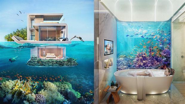 Casas flotantes con vistas al fondo del mar noticias y - Casas en el mar ...