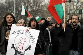 manifestaciones en Bulgaria